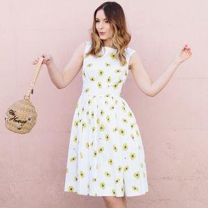 Kate Spade Classic Daisy Dot Bee Lyric Dress